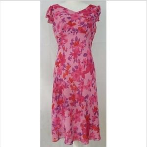 Ann Taylor Loft Women's Dress 10P 10 petites Pink